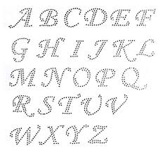 Pick Any 10 Letters Cursive Alphabet Letters Clear Rhinestone Iron On Hotfix Transfer
