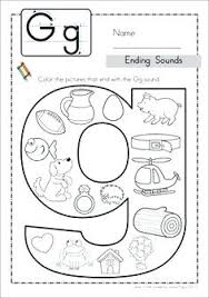 2 letter words with g math ending sounds color it includes middle sounds worksheets for some