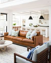 vintage brown leather couch tan decor design ideas living ro