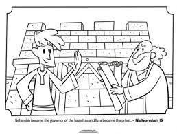 Small Picture Kids coloring page from Whats in the Bible featuring Ezra and