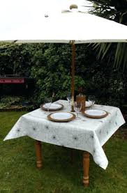 round tablecloth with umbrella hole cloth oval outdoor elastic