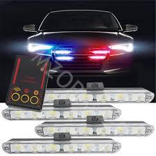 Led Blue Police Lights Clidr Car Truck Emergency Light Flashing Firemen Lights 4x6 Led Car Styling Ambulance Police Light Strobe Warning Light Dc 12v Blue