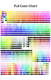 Full Color Chart Color Chart Guide Yimage Design Studio And Fabric Printing Custom Sports Apparels