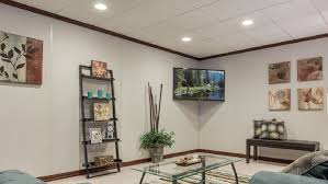 Unique Wall Coverings Hide Duct Work And Ceiling Wires In Basement With Something A Bit