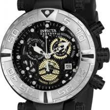 Brand New Invicta Subaqua 24612 Black Skeleton