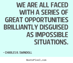 Google Quotes Extraordinary Charles R Swindoll Picture Quotes We Are All Faced With A Series