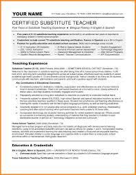 10 Resume For Substitute Teachers Wsl Loyd