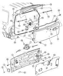 98 dodge tailgate parts diagram