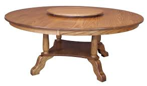 large amish round dining table solid oak wood traditional 60 72 oak round dining table