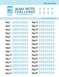 30 Day Water Challenge Tracker Pdf Water Challenge