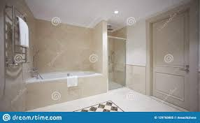 Partition Bathroom Design Nice Bathroom In A Modern Style With Gray Tiled Walls There