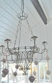 barbed wire chandelier play houses white country living lamps chandeliers sparkle noel beauty tutorial