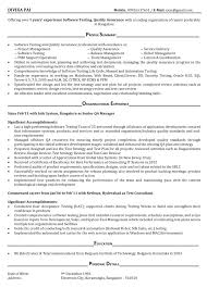 Wimax Test Engineer Sample Resume Automation Test Engineer Sample Resume Electronic Test Engineer 93