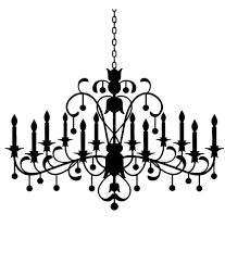 chipakk chandelier black wall sticker small