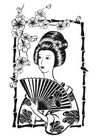 Free Coloring Page Coloring Adult Japan
