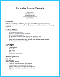Bartender On Resume Free Resume Example And Writing Download