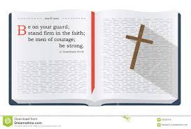 Vers De Bible Au Sujet Dêtre Sur La Garde Illustration Stock