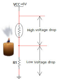 simple fire alarm thermistor circuit diagram circuits gallery at this situation voltage across resistor r1 is low and it is not sufficient to turn on the transistor
