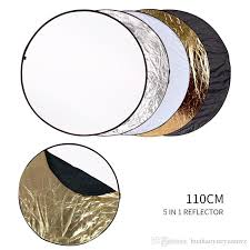 2019 5 in 1 round reflector flash silver gold whole portable collapsible reflector for studio multi photo disc diffuers from huahaoyueyuanwz