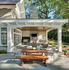 bright and modern outdoor patio fireplace ideas 3 patio combination of open covered with kitchen