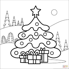 Fruits and vegetables coloring pages. Free Christmas Tree Coloring Pages For The Kids