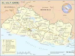 Map of El Salvador (Political Map) : Weltkarte.com - Karten und Stadtpläne  der Welt
