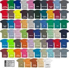 Gildan Color Chart 2019 36 Curious Gildan Color Chart Download