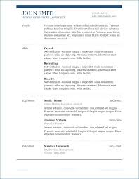 Best Cv Templates Word Resume Example