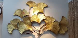 honeydew gold leaf metal wall art for