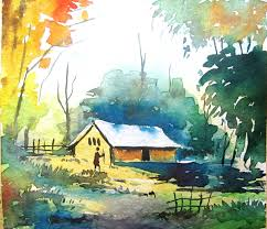 simple watercolor landscape painting watercolor painting for beginners you