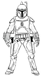 Boba Fett Coloring Pages Pizzafoodclub
