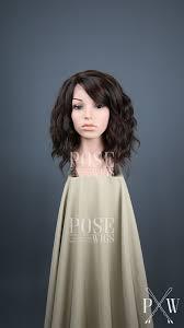 Dark Brown With Highlights Medium Length Wavy Bob Lace Front Wig