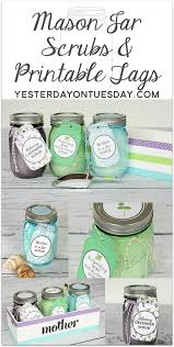 Decorating Mason Jars For Gifts Mason Jar Scrubs Mother's Day Giveaway Yesterday On Tuesday 80