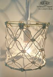 learn to make a diy macrame lamp shade for a boho chic