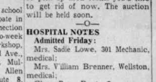 LOWE Sadie agmitted - Newspapers.com
