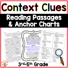 Context Clues Anchor Chart Context Clues Reading Passages And Anchor Charts For 3rd 5th Grade