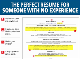 Resume Format For Internship With No Experience Refrence 12 Resume