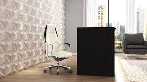 clinton reception desk in black oak with white acrylic front zuri furniture