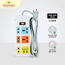 ⭐Ổ cắm điện Honjianda 0533B 2.500W dây 3 mét an toàn chống quá tải: Mua bán  trực tuyến Ổ điện công tắc thiết bị tiết kiệm điện với giá rẻ
