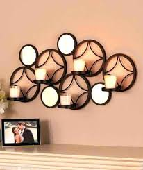 metal circle wall decor circle wall decor unique home decor interlocking circles metal wall art candle