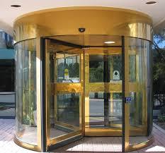 hosrton grand rotating door entrance