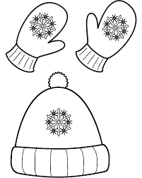 Small Picture Winter Hat and Mittens Coloring Page Christmas
