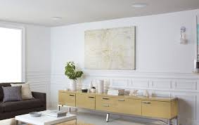 living room with in ceiling speakers