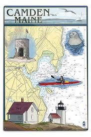 Amazon Com Camden Maine Nautical Chart 12x18 Signed