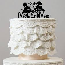 Romantic Cake Topper Mickey Minnie Mouse Theme Inspired Wedding