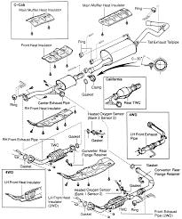Exhaust system arrangementtundra with 2uz fe engine