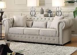 beige tufted sofa.  Beige BEAUTIFUL BEIGE BUTTON TUFTED SOFA COUCH LIVING ROOM FURNITURE And Beige Tufted Sofa A