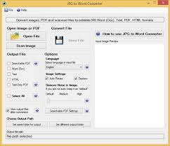 Convert A Scanned Jpeg File Into An Editable Word Document The