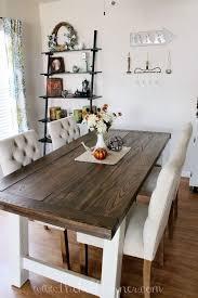 diy farmhouse style dining table on farmhouse dining room set