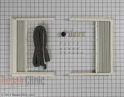 kenmore air conditioner. window side curtain and frame - part # 1298131 mfg 3127a20074b kenmore air conditioner